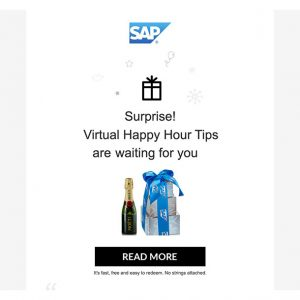 Gifting for Virtual Happy Hour: Tips from SAP