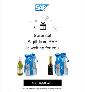 SAP E-Gift Example Corporate Gift