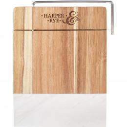 Custom Marble and Acacia Wood Cheese Cutting Board