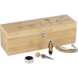 Custom Bamboo Wine Case Set
