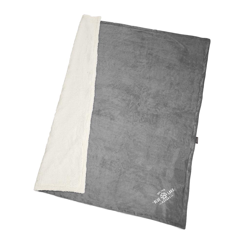 Custom Field and Co.® Corduroy Sherpa Blanket