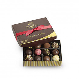 Godiva Signature Truffles Gift Box, Personalized Ribbon, 12pc.