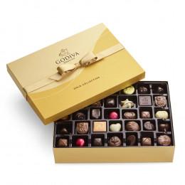 Godiva Assorted Chocolate Gold Gift Box Gold Ribbon 70pc