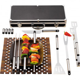 Custom Stainless Steel 13-piece BBQ Grill Master Tool Set