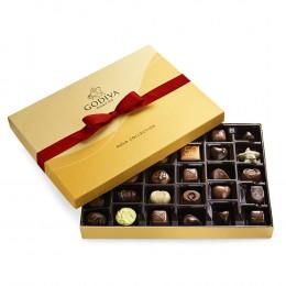 Godiva Assorted Chocolate Red Gift Box Classic Ribbon 36pc