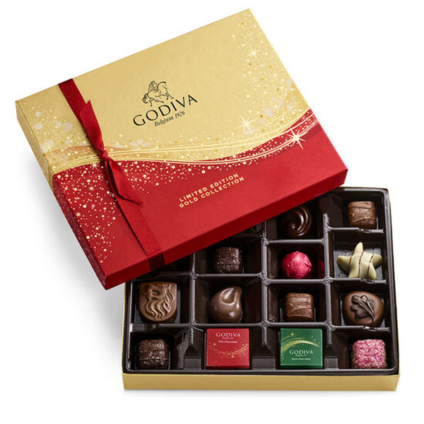 Godiva Limited Edition Sparkle Holiday Chocolate Collection 16 pc