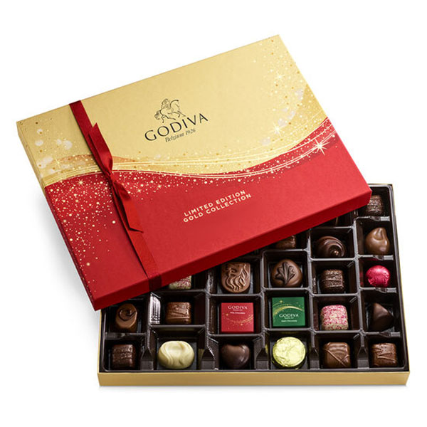 Godiva Limited Edition Sparkle Holiday Chocolate Collection 32 pc