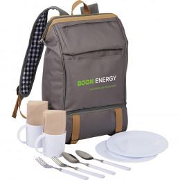 Custom Café Picnic Backpack for Two