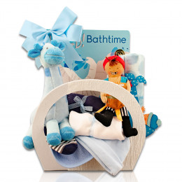 Welcome Home Baby Boy Starter Gift Basket