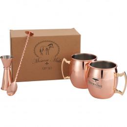 Custom Moscow Mule Mug 4-in-1 Gift Set 14oz