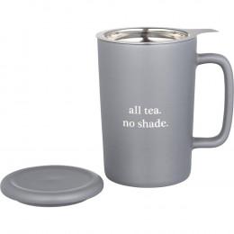 Custom Tulsa Tea & Coffee Ceramic Mug With Lid 14oz