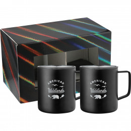 Custom Rover 14 oz. Insulated Camp Mug Duo with Lids and Gift Box