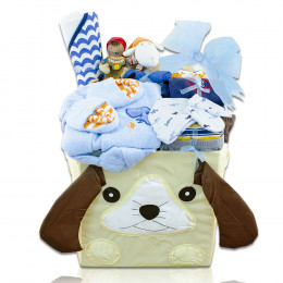 Baby Boy's First Wardrobe Gift Basket