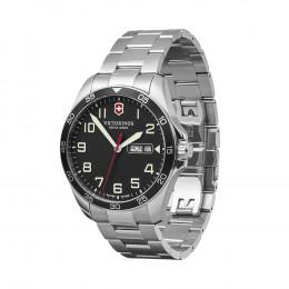 Victorinox Swiss Army Black Dial, Stainless Steel Bracelet