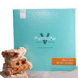 V Chocolate Almond Toffee Gift Box