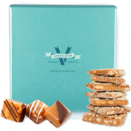 V Chocolate Almond Toffee and Caramel Assortment Gift Box