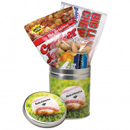 Custom Crowd Pleaser Game Day Snack Tin