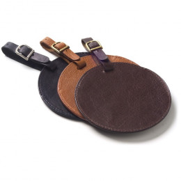 Custom Leather Circle Luggage Tag