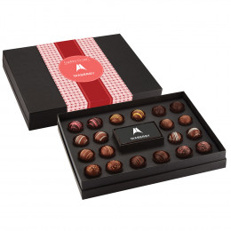 Be Mine Gourmet Truffle Gift Box with Custom Chocolate Card - 20 pc