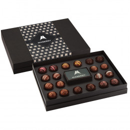 Gourmet Truffle Gift Box with Custom Chocolate Card - 20 pc