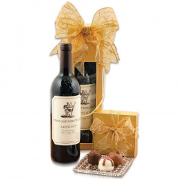 Stag's Leap Artemis Cab Sauv & Truffles Gift Basket