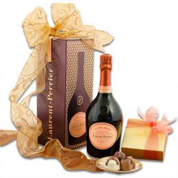 Laurent-Perrier Cuvée Rosé Tin & Truffles Gift Basket