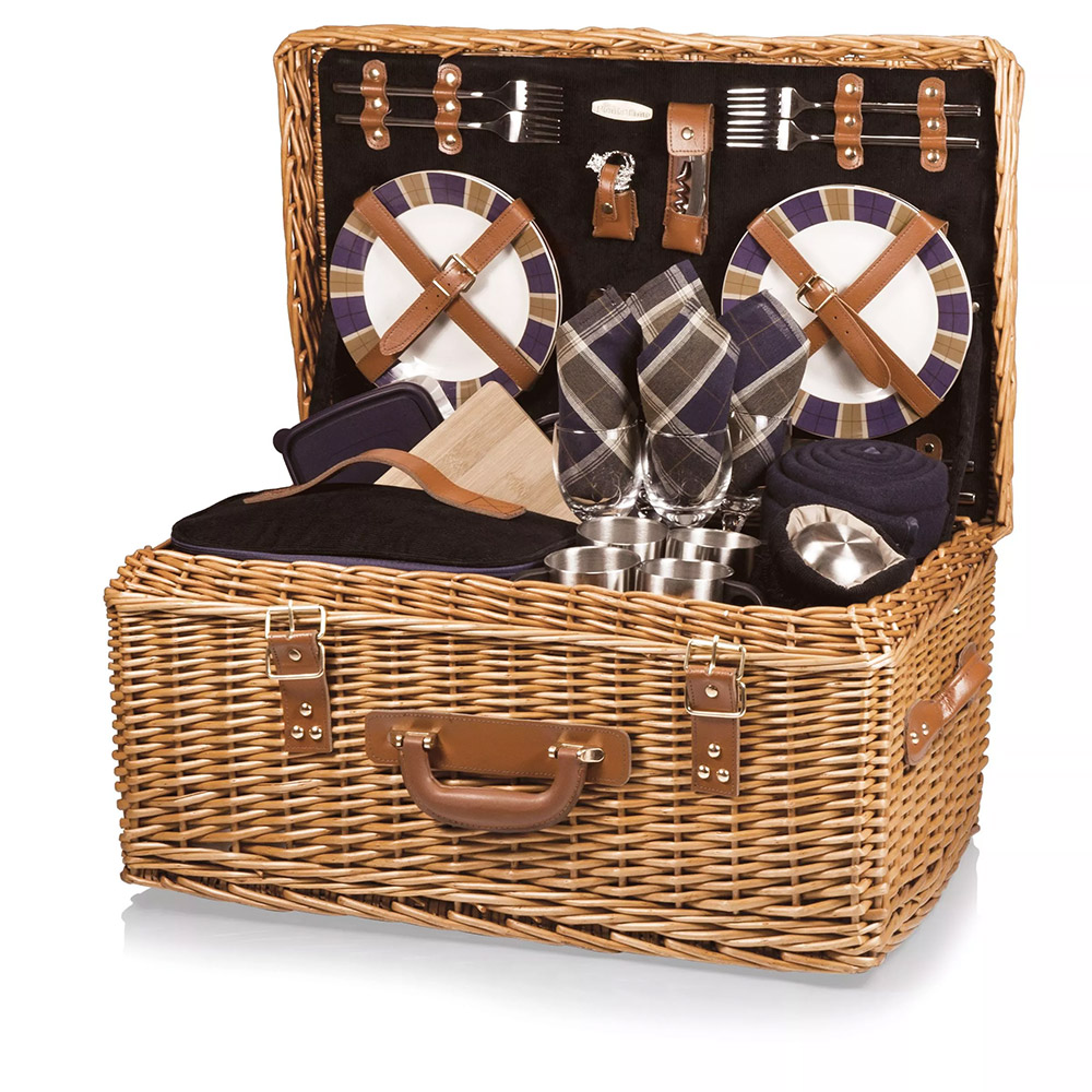 Custom Windsor Luxury Picnic Basket Set