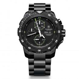 Alpnach Automatic Chrono, Black PVC, Stainless Steel bracelet Watch