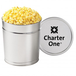 Gourmet Buttered Popcorn Tin - 3.5 Gallon