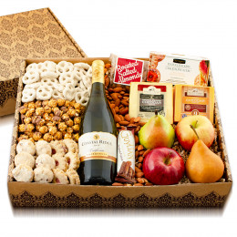 Charming Chardonnay, Fruit, Cheese & Gourmet Gift Box