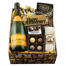 Champagne & Truffles Gift Box - Happy Anniversary
