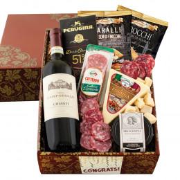 Buona Vita Italian Vino & Antipasto Gift Box - Congratulations