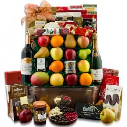 King's Ransom Red Wine, Fruit & Gourmet Gift Basket