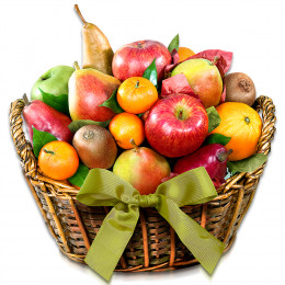 Organic California Collection Fruit Gift Basket