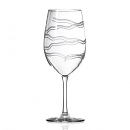Rolf Glass Crystal 18oz Modern Engraved Wine Glass (Set of 4)