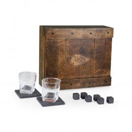 Custom Engrave Oak Whiskey Box Gift Set