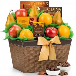 Premium Grade Fruit and Godiva Chocolates