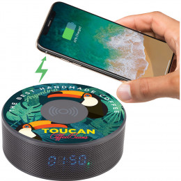 Custom Bluetooth Speaker Clock with Wireless Charging