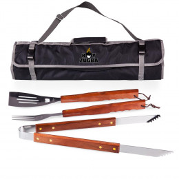 Custom 3-Piece BBQ Tool Set