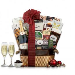 Houdini Blanc de Noir Champagne Wine Basket