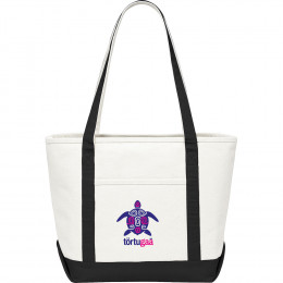 Custom Canvas Boat Tote w/Front Pocket