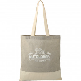 Custom Recycled Cotton and Twill Tote Bag