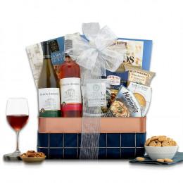 Baron Herzog Red and White Kosher Wine Basket
