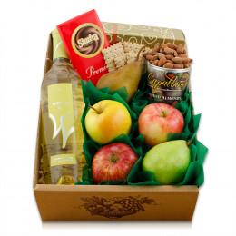 White Wine, Fruit & Snax Gift Box