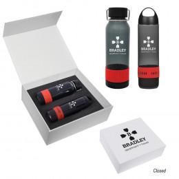 Custom Tritan™ Audio Water Bottles Gift Set