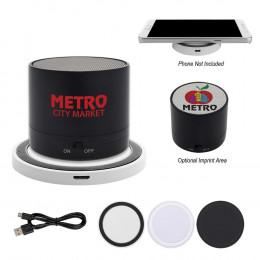 Custom Wireless Speaker and Charging Pad Duo