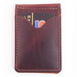 Personalized Money Clip Leather Wallet