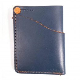 Personalized Wave Pocket Genuine Leather Wallet