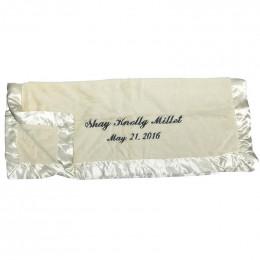 Personalized Silky Soft Baby Blanket | Cream Bearington Bear
