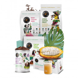 Good For You Chocolate Beverages & Smoothies Gift Box by Blue Stripes Urban Cacao